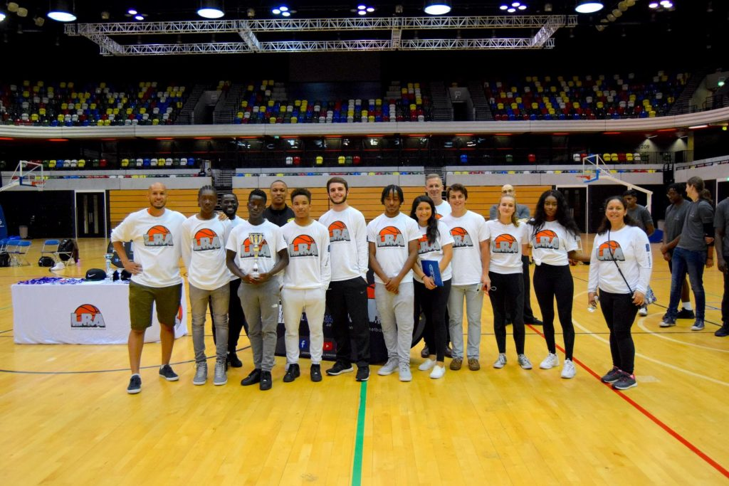 A picture with the LBA staff and volunteers involved with the LBA College Tournament