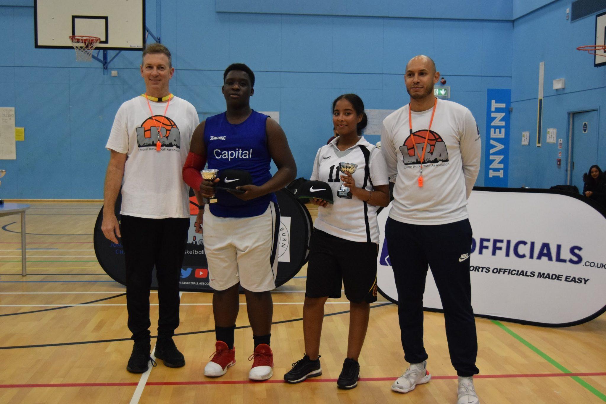 Brent U16 Girls MVP: Ark Academy; Brent U16 Boys MVP: Jake Akkinuiye from Capital City Academy