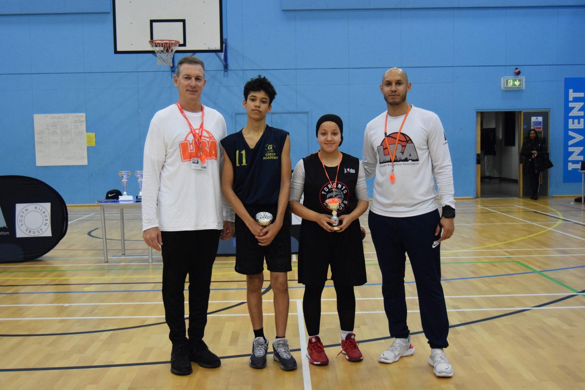 Brent U14 Girls MVP: Nazha Kasim from Crest Academy; Brent U14 Boys MVP: Malachi Stephens from Crest Academy