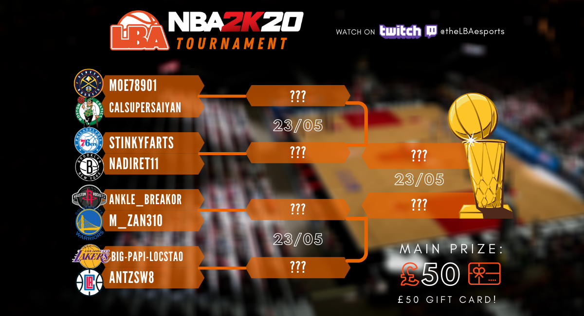 The players participating for the first LBA NBA 2K (PS4) Tournament. © LBA